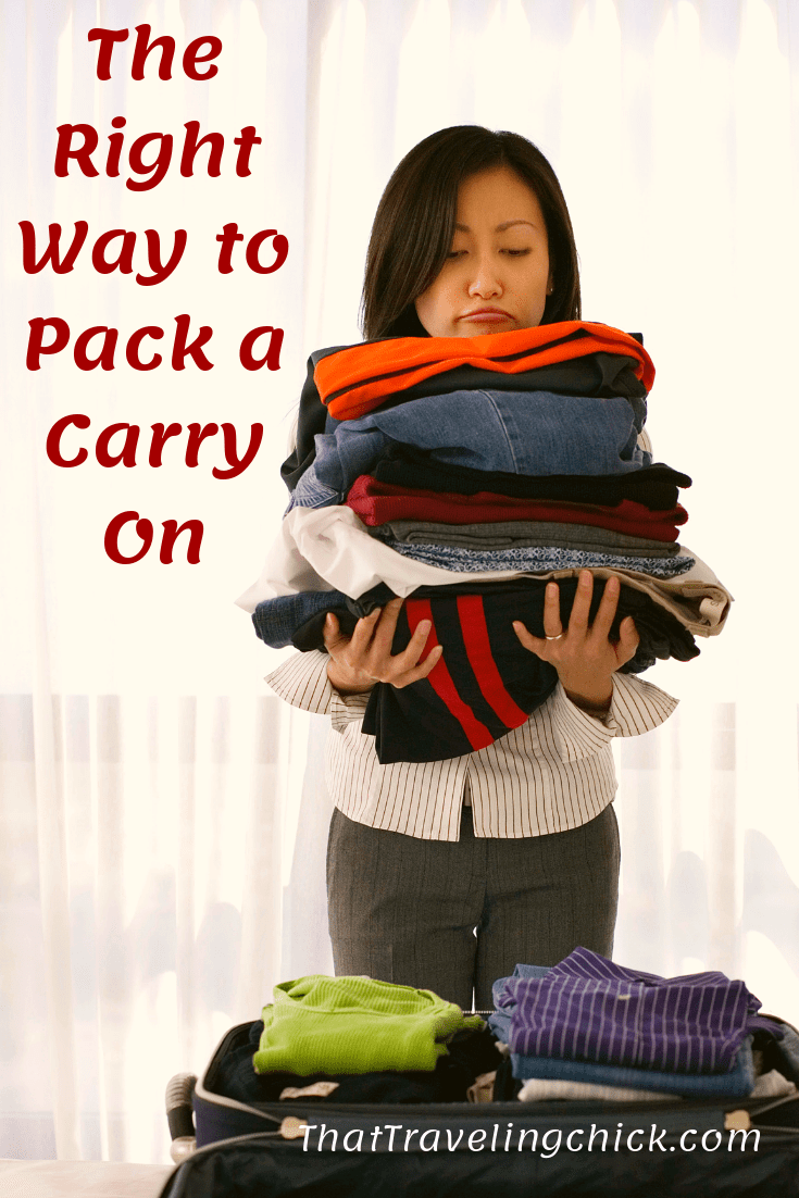 The Right Way to Pack a Carry On #packacarryon #packingfortravel #vacationpacking