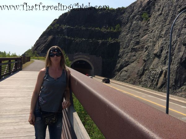 Silver Creek Cliff View - Silver Creek Cliff Tunnel #minnesota #tunnels #northshorehighway61minnesota