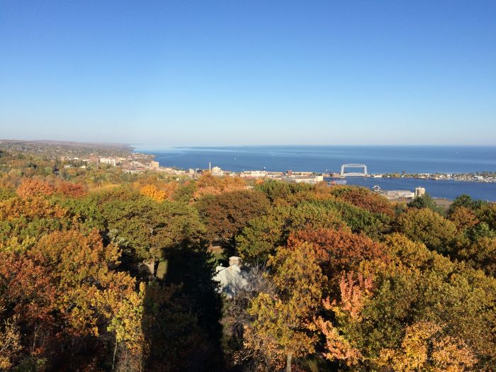 Fall Colors over Duluth, Mn