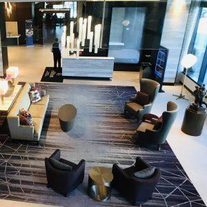 Hotel lobby Hilton Rochester Mayo Clinic Area