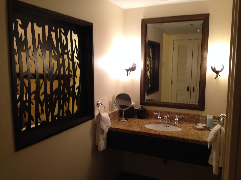 Loews Royal Pacific Resort King Room Bathroom Sink - Loews Royal Pacific Resort #universalorlando #lowesroyalpacificresort #florida #orlando