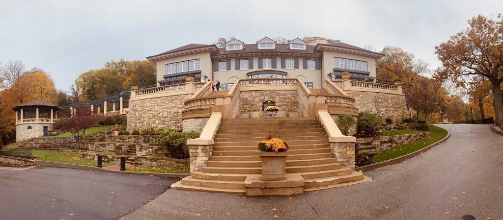 Panorama of Mayowood Mansion Rochester Minnesota