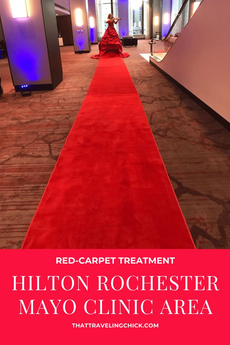 Red-carpet treatment at Hilton Rochester Mayo Clinic Area #travel #minnesota #hilton #lodging #mayoclinic #rochester