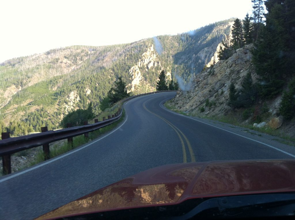 View of highway from Cody Wyoming to Yellowstone National Park #yellowstone #codywyoming
