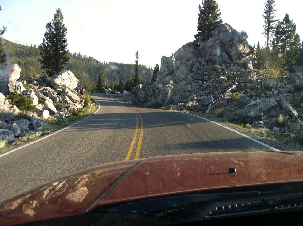View of highway from Cody Wyoming to Yellowstone National Park #yellowstone #codywyoming