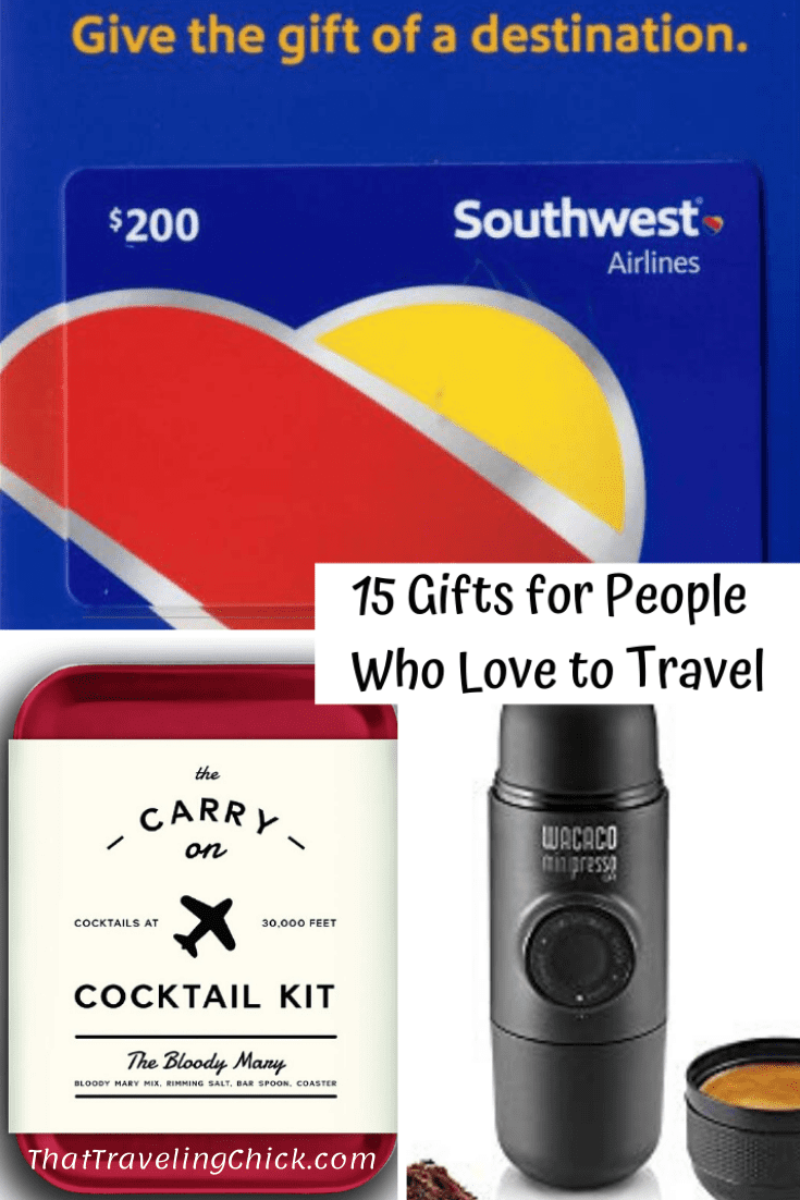 15 Gifts for People Who Love to Travel #giftguide #travelgifts #travellovers