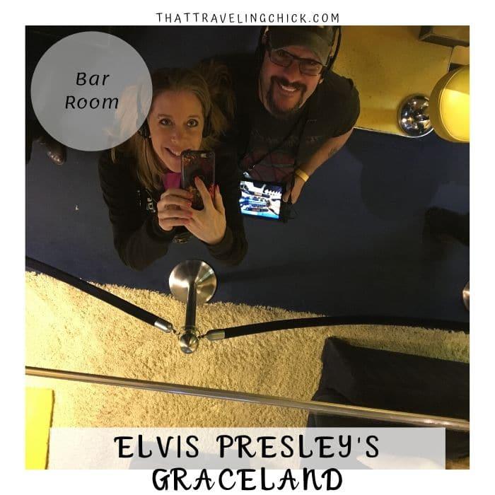 Elvis Presley Graceland - Bar Room at Graceland Mirror Ceiling #graceland #elvispresley #tennessee #memphis #tourgraceland
