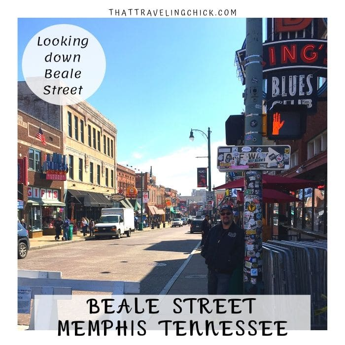 A look down Beale Street #bealestreet #memphis #tennessee