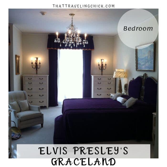 Bedroom at Graceland #graceland #elvispresley #elvissgrandma #minniemaepresley #purplebedroomatgraceland #tennessee