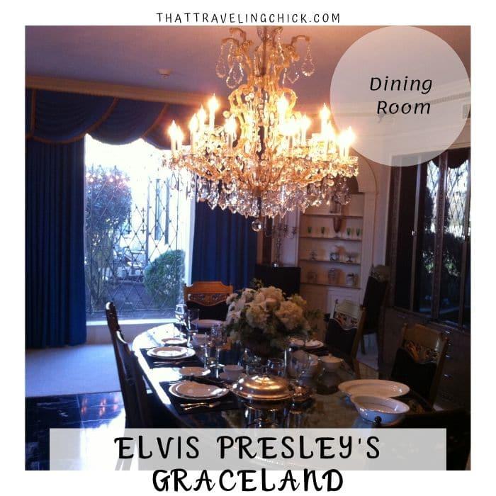 Dining Room at Graceland #graceland #elvispresley #tourgraceland #tennessee #memphis
