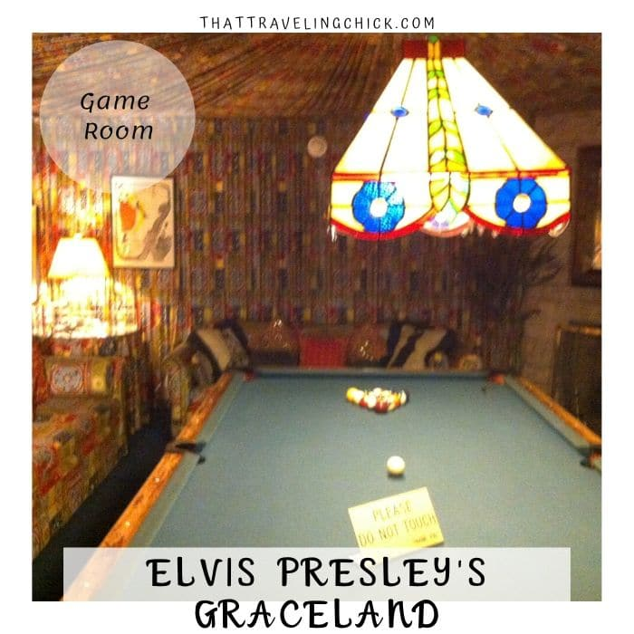 Elvis Presley Graceland - Game Room at Graceland #elvispresley #graceland #gameroomatgraceland #tennessee #memphis #tourgraceland