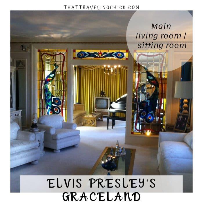 Main Living Room at Graceland #elvispresley #graceland #tennessee #memphis #tourgraceland
