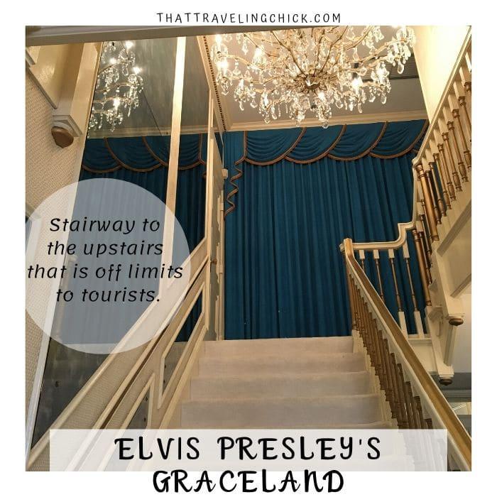 Stairway to Upstairs at Graceland #graceland #elvispresley #elvispresleygraceland