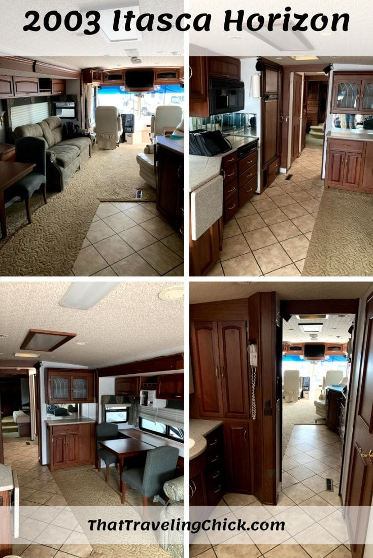 2003 Itasca Horizon Kitchen and Living Room #itascahorizonrv