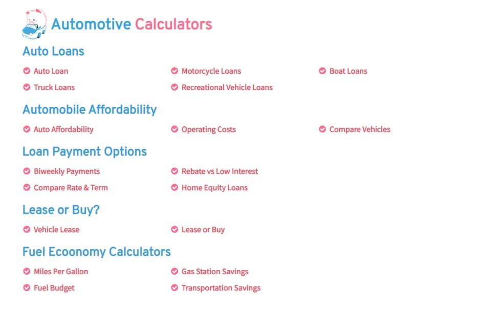 Pigly Auto Calculators  #autocalculators