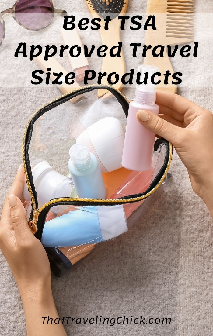 Best TSA Approved Travel Size Products #TSAApproved #travelsizeproducts