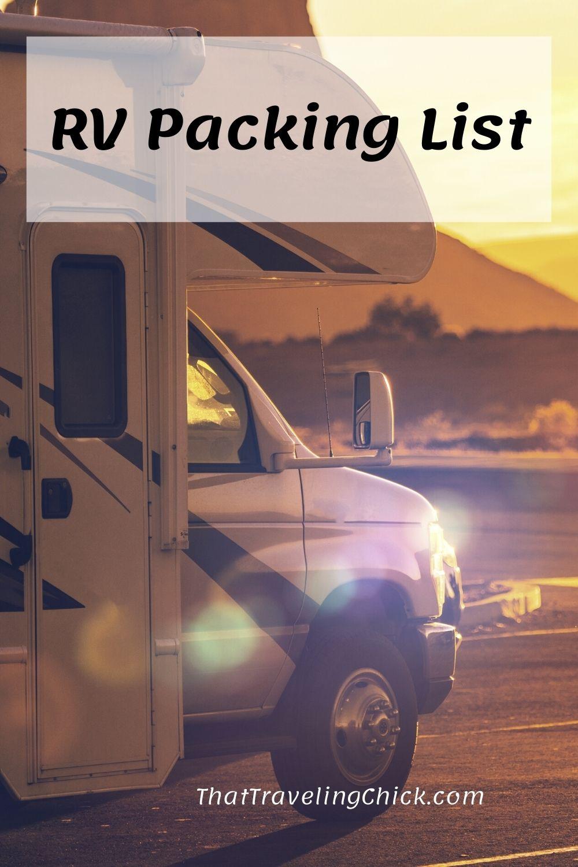RV Packing List #rvpackinglist #packinglist #rving