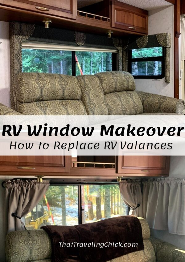 RV Window Makeover #rving #rvwindows #rvmakeover