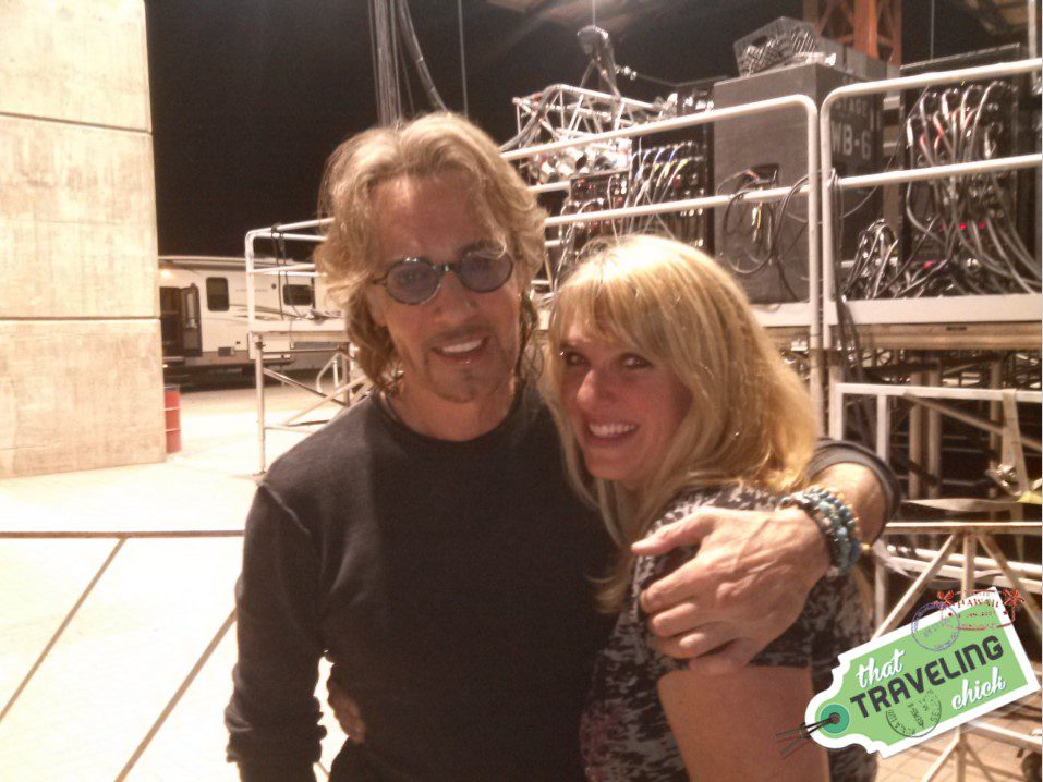 Backstage at a concert with the Australian Heartthrob and my friend Tina